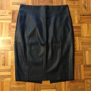 Black faux leather pencil skirt sz 12